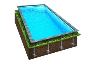 макет бассейна на сваях
