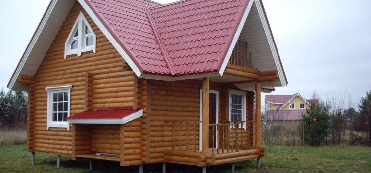Дачный дом на винтовых сваях