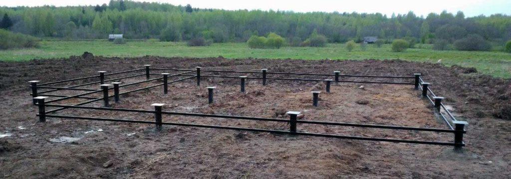 Сваи на болоте